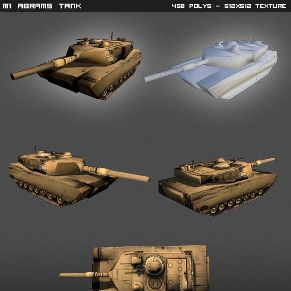 M1 Abrams Tank Lowpoly