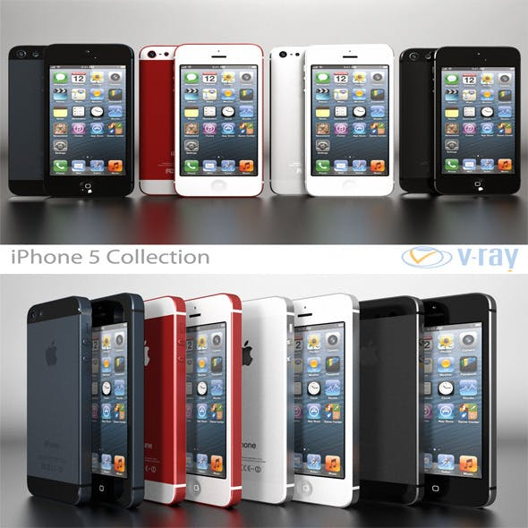 Apple iPhone 5 Collection - 3DOcean Item for Sale