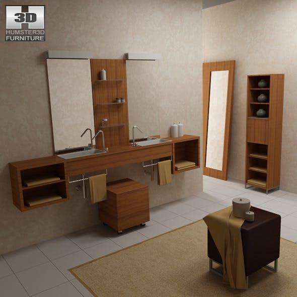 Bathroom furniture 02 Set - 3DOcean Item for Sale