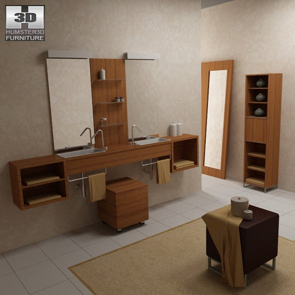 Bathroom furniture 02 Set