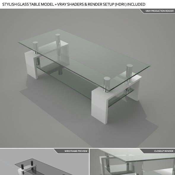 Stylish Glass Table /w Vray Shaders & Setup (HDRI)