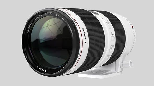 Canon Zoom Lens EF 70-200mm 1:2.8 L IS II USM - 3DOcean Item for Sale