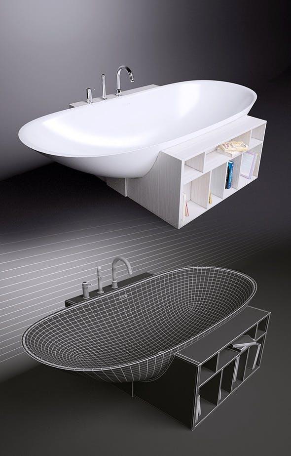Bath Rexa Design Unico and Gessi Goccia 33637 - 3DOcean Item for Sale