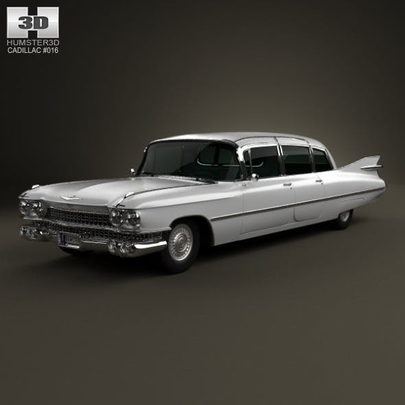 Cadillac Fleetwood 75 sedan 1959 - 3DOcean Item for Sale