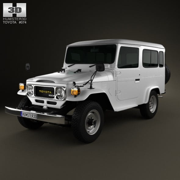 Toyota Land Cruiser (J40) Hard Top 1979 - 3DOcean Item for Sale