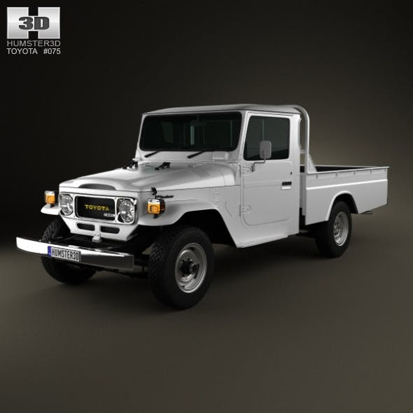 Toyota Land Cruiser (J40) Pickup 1979 - 3DOcean Item for Sale