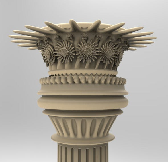 Column Aggressive Style - 3DOcean Item for Sale