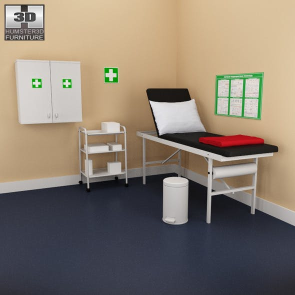 Hospital 02 Set - medical furniture.
