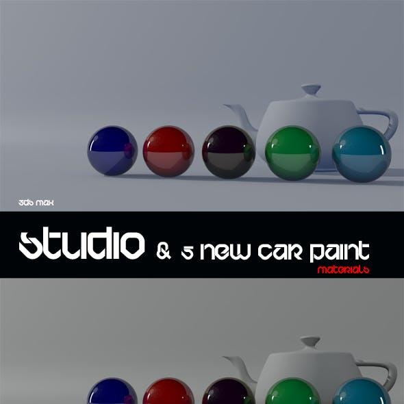 3ds Max Studio & 5 Car Modified Materials