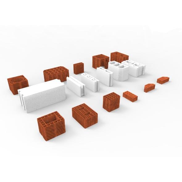 Huge Bricks Collection Set - 3DOcean Item for Sale