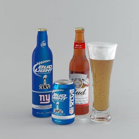 Beer Bud - 3DOcean Item for Sale