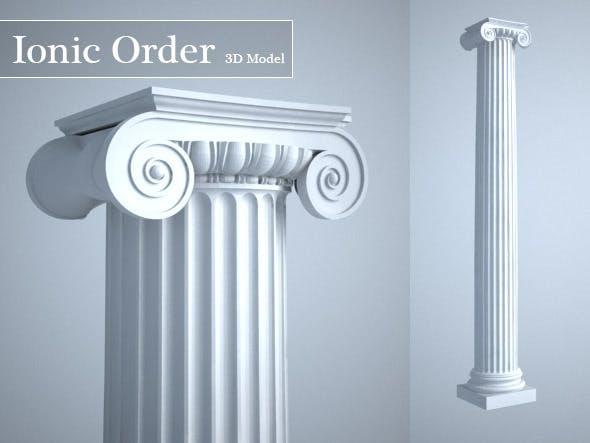 Grecian Ionic Order Column High LOD model - 3DOcean Item for Sale