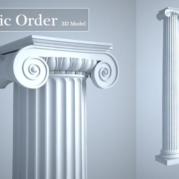Grecian Ionic Order Column High LOD model