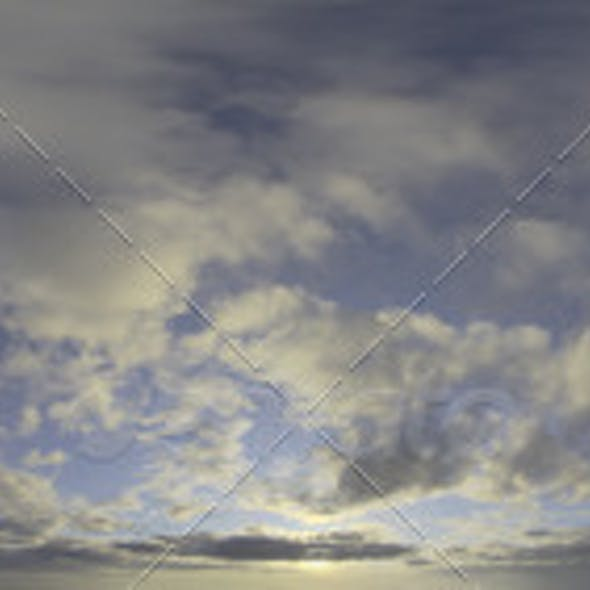 Skydome HDRI - Sunset Clouds III