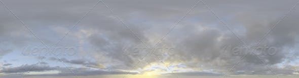 Skydome HDRI - Sunset Clouds II - 3DOcean Item for Sale