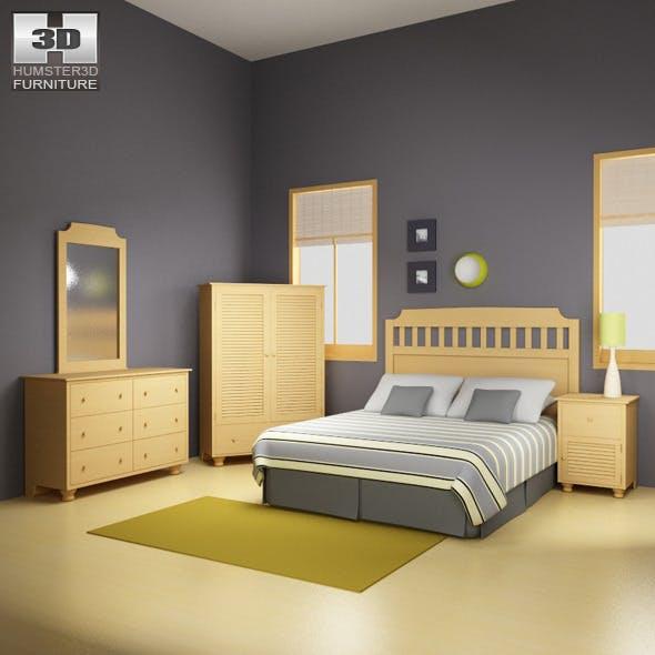 Bedroom Furniture 20 Set - 3DOcean Item for Sale