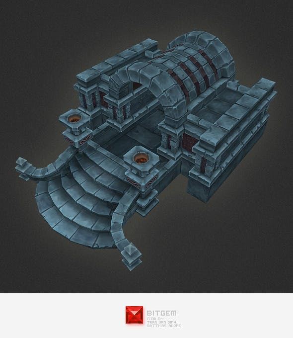 Low Poly Dungeon Entrance And Exit - 3DOcean Item for Sale