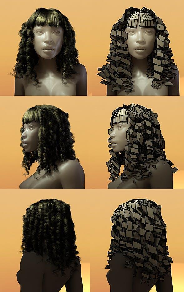 Female Hair Style 004 - 3DOcean Item for Sale