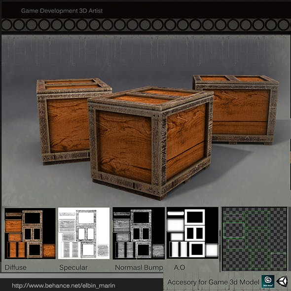 Realistic Box Lowpoly for Games
