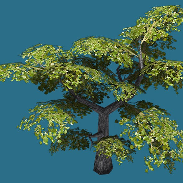 Low Poly Tree Model