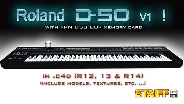 Roland D-50 V1 - 3DOcean Item for Sale
