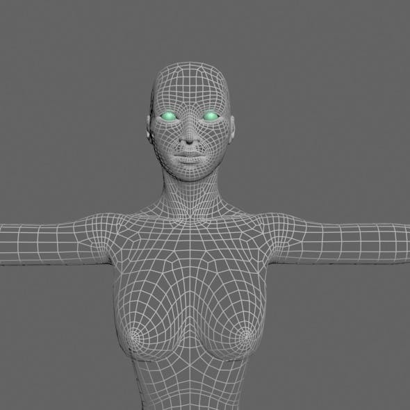 Female Model - 3DOcean Item for Sale