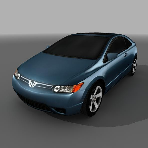 Honda Civic SI Lowpoly with HighRes Maps