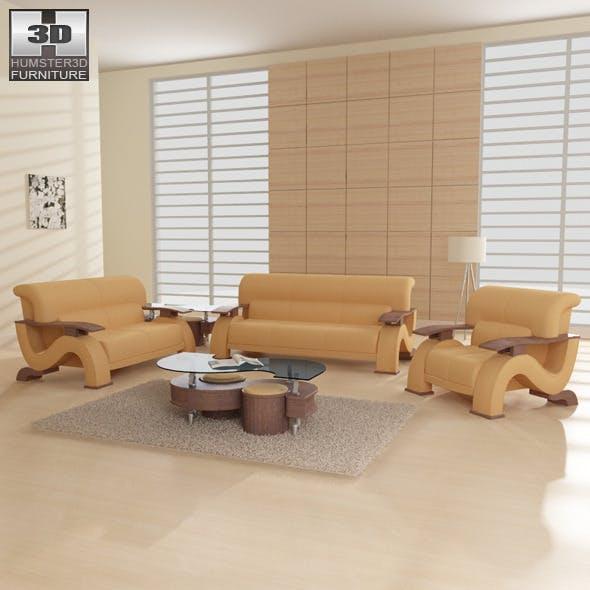 Living room furniture 06 Set - 3DOcean Item for Sale