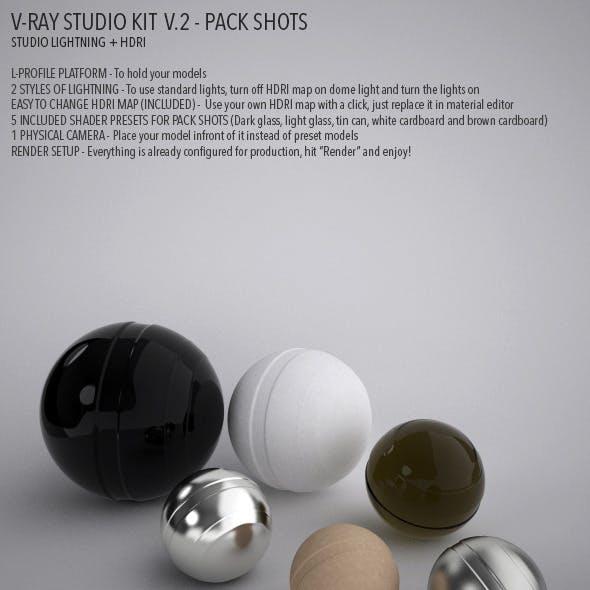 Vray Studio Setup v.2 - Pack Shots