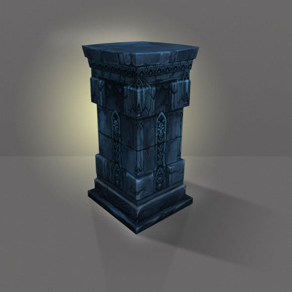 Stone Pillar Low Poly