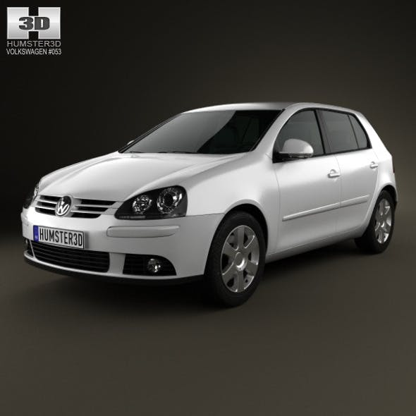 Volkswagen Golf Mk5 5-door 2004 - 3DOcean Item for Sale