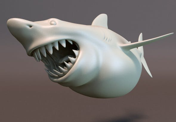 Shark Cartoon Character - 3DOcean Item for Sale