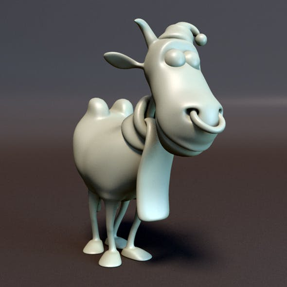 Cow Cartoon Character - 3DOcean Item for Sale