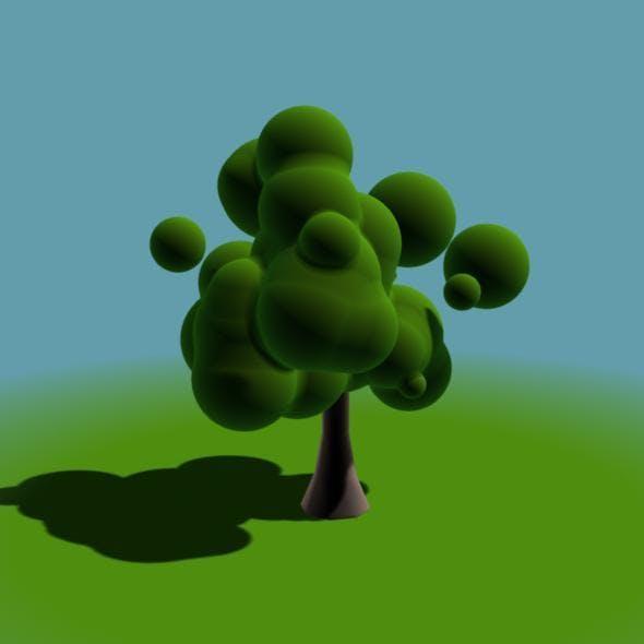 Animated Cartoon-like Blob Tree - 3DOcean Item for Sale