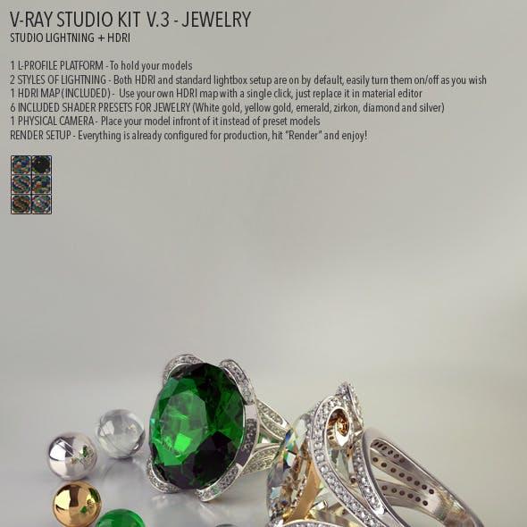Vray Studio Setup v.3 - Jewelry