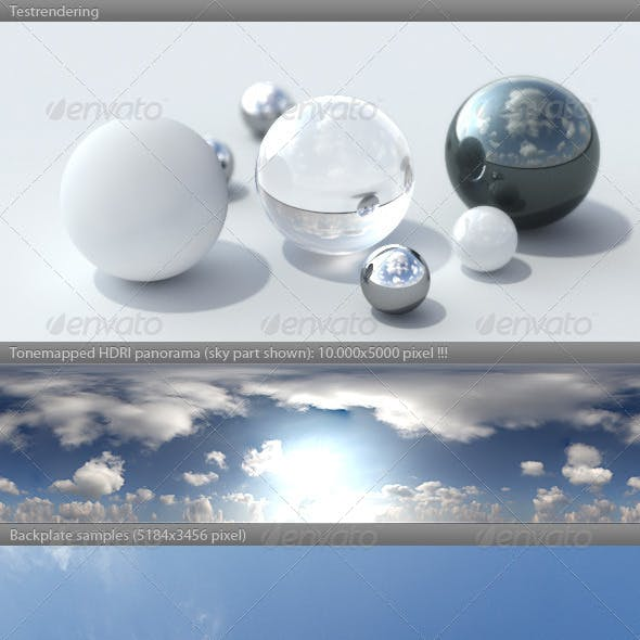 HDRI spherical sky panorama -1037- summer sky