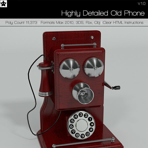 Highly Detailed Old Phone