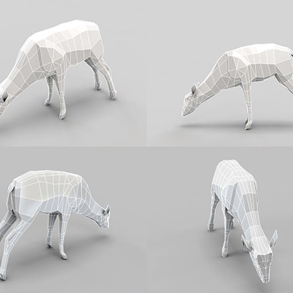 Low Poly Mesh Deer