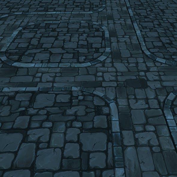 Modular Dongeon stone Road segment