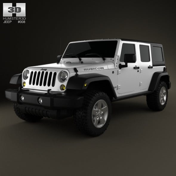 Jeep Wrangler Unlimited 2013 - 3DOcean Item for Sale