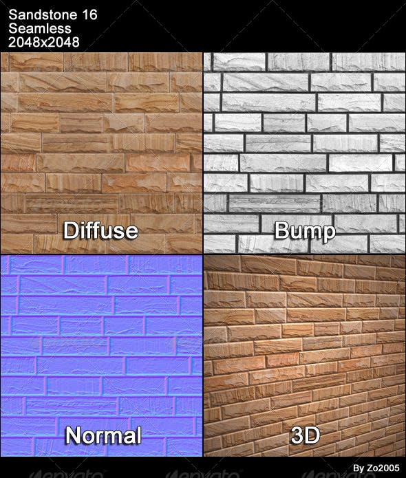 Sandstone Seamless Texture 16 - 3DOcean Item for Sale