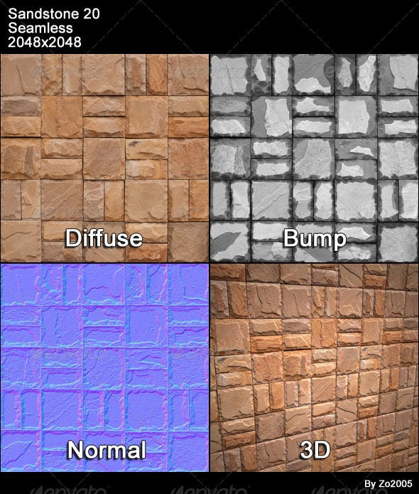 Sandstone Seamless Texture 20 - 3DOcean Item for Sale