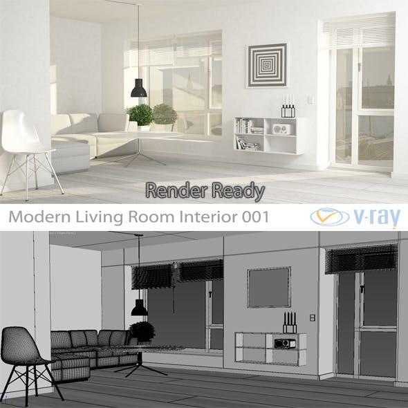 Modern Living Room Interior 001 - 3DOcean Item for Sale