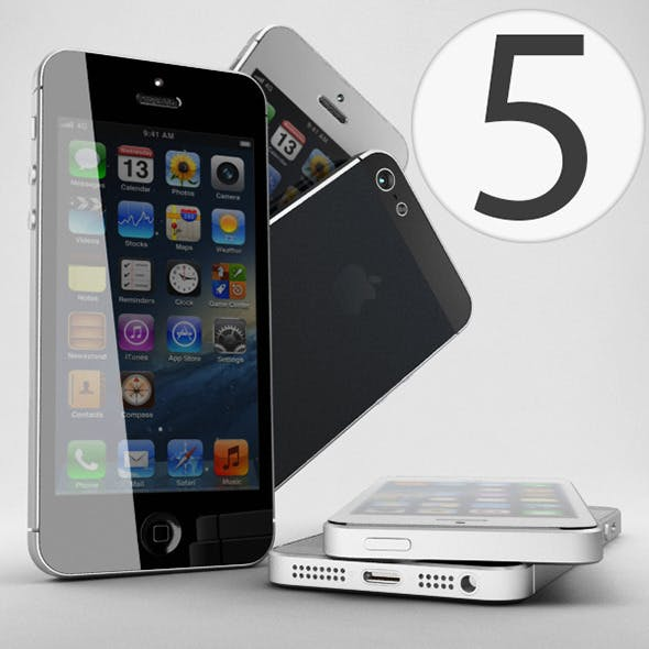 Apple iPhone 5 - 3DOcean Item for Sale