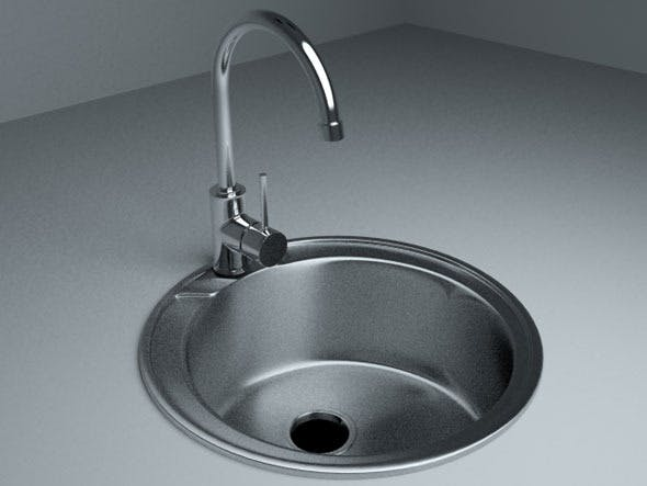 Sink with Mixer Tap - 3DOcean Item for Sale