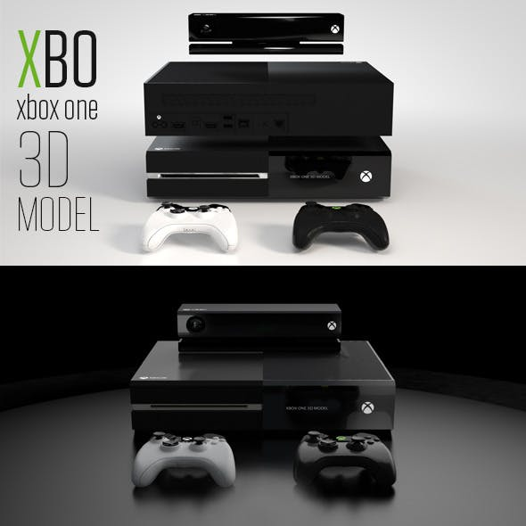 XBOX One 3D Model - 3DOcean Item for Sale