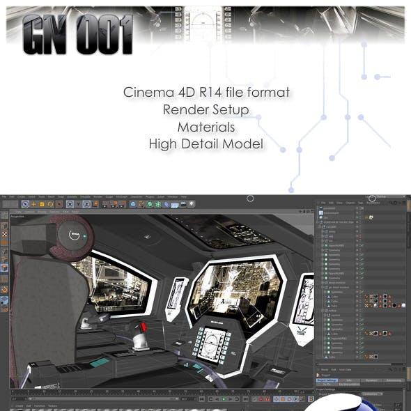 Gundam Exia Cockpit 3D Model and Render Setup