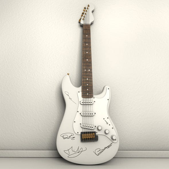 Autographed Electric Guitar - 3DOcean Item for Sale