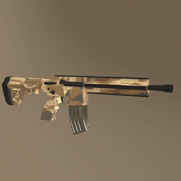 HK-416 Weapon Model - 3DOcean Item for Sale