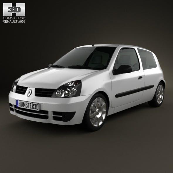 Renault Clio Mk2 3-door 2005 - 3DOcean Item for Sale